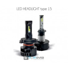 LED H4 (Hi/Low) Type 15 CSP C-N_30W, 4000Lm_5700K (комплект)